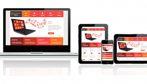 devices showing a responsive website