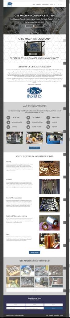 Responsive Homepage | O&S Machine Company