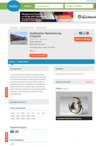 Kudzu Business Listing | Southeastern Manufacturing Enterprise